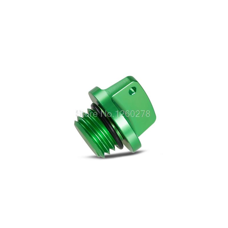 NICECNC Green Oil Filler Cap For Kawasaki Ninja 650 1000 400 600 ER4N ER6F ER6N Z800 Z1000 Z650 ZXR750/R VERSYS 650 1000 hot sale motorcycle accessories oil filler cap bolt screw m20 2 5 green for kawasaki er 6n z800 z1000 z1000sx