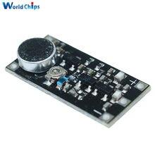 Mini FM nadajnik bezprzewodowy mikrofon moduł tablicy częstotliwości nadzoru dla Arduino regulowany kondensator DC 3V 9mA 88-115MHz