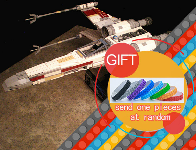 05039 1586pcs Star and War Series UCS Rebel Red Five X wing Starfighter set Building Blocks Compatible with 10240 toys lepin lepin 05040 y attack starfighter wing building block assembled brick star series war toys compatible with 10134 educational gift