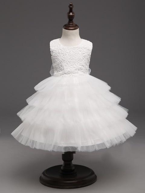 Neonato Eleganti bambini ragazza abiti per le ragazze abito da sposa  Battesimo 1 anno festa di 5cd2a3376f5