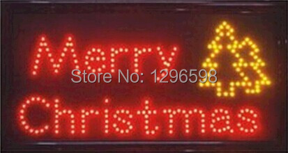 CHENXI New Time limited Graphics semi outdoor 15mm 19X10 inch Ultra Bright merry christmas LED lighted sign