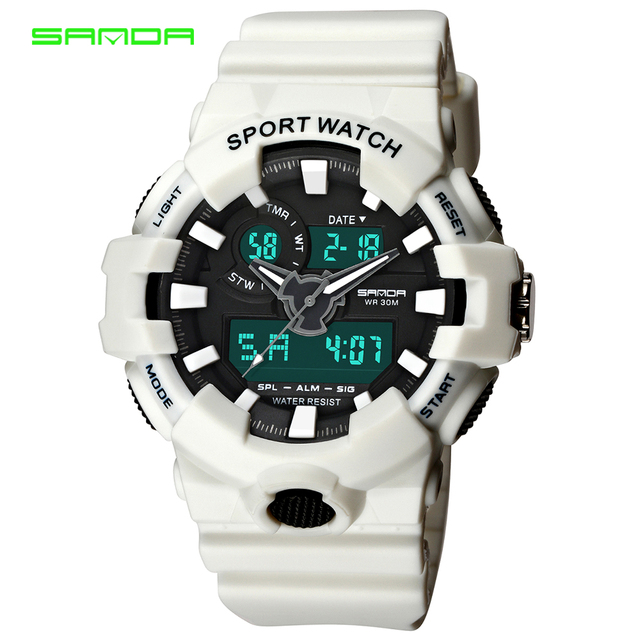 SANDA Brand New Luxury Watch Men LED Digital Waterproof Wristwatch Fashion G Cas