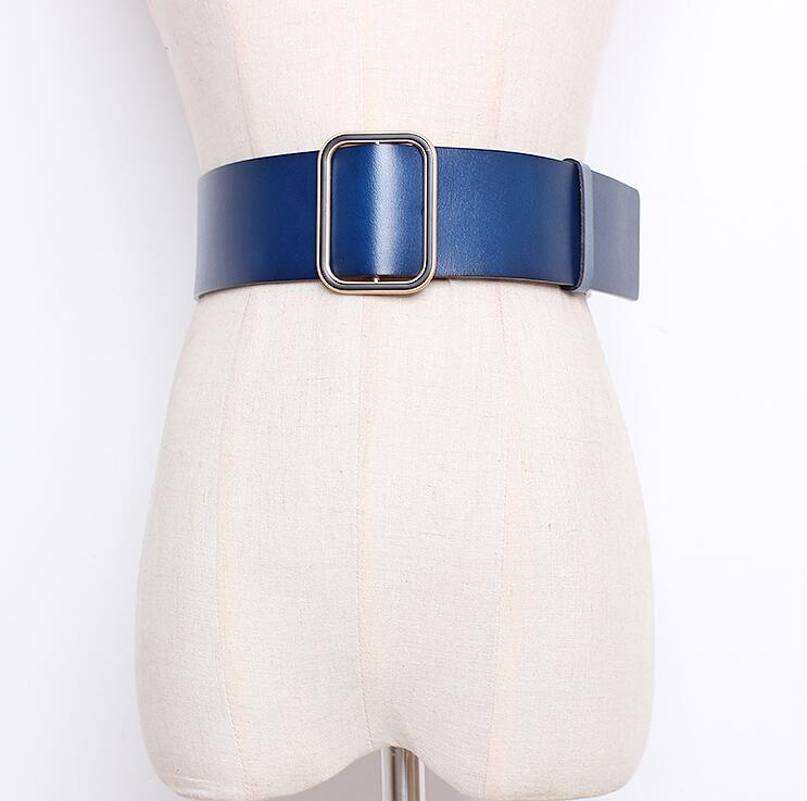 Women's Runway Fashion Genuine Leather Cummerbunds Female Dress Corsets Waistband Belts Decoration Wide Belt R1705