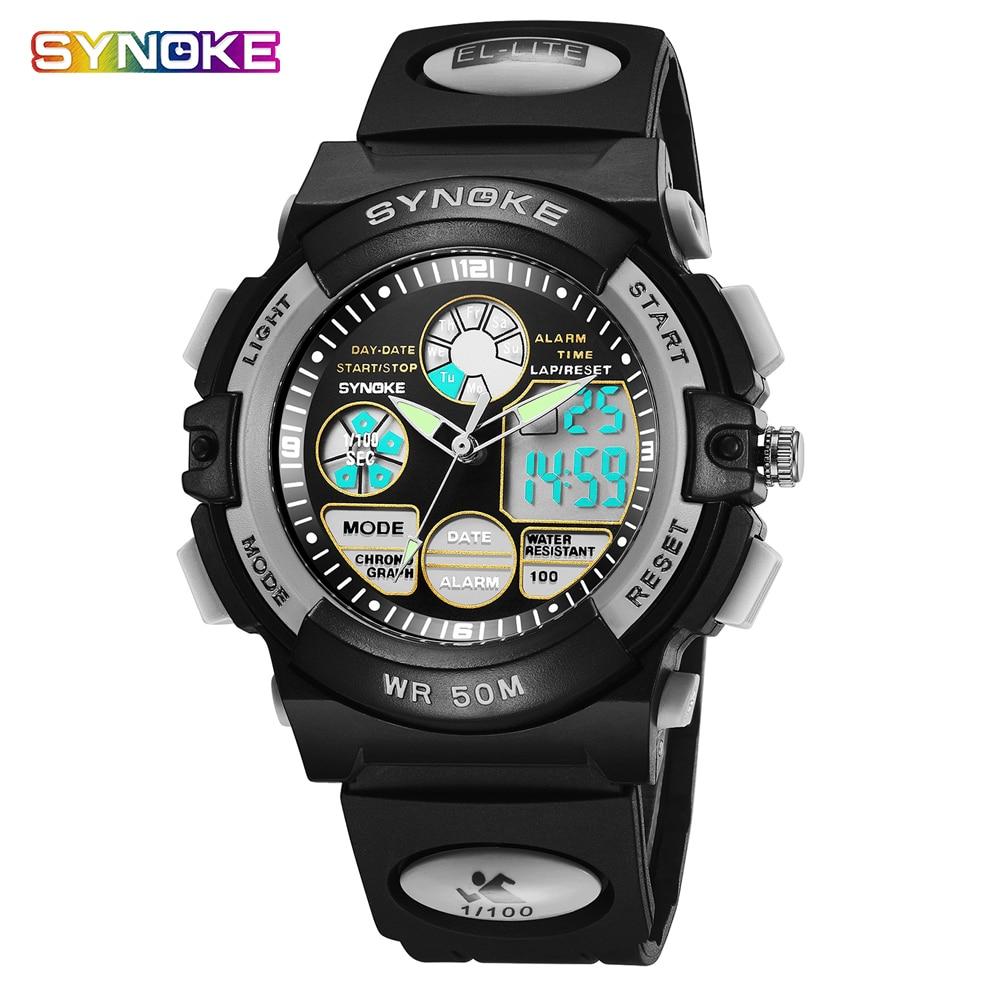 Children Watches LED Digital Sport Quartz Clock Alarm Date Silicone Boy Girl Student Multifunctional Waterproof Wristwatches Kid