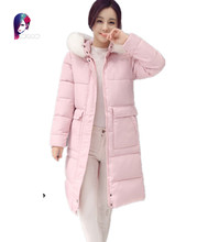 2016 Winter New Jacket Women Long Section Thickening Coats Of Female Fashion Hot Sell Cotton Jeckets