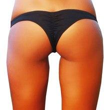 650961f6c Musim Panas Thong Bikini Bottom Lipat Seksi Baju Renang Pinggang Rendah  Baju Renang Pantai Brasil Memakai Putih Hitam Ungu Hijau.