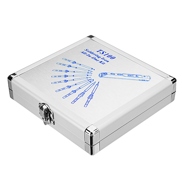 Soldering Iron Storage Box Aluminium Box 154 X 147 X 36mm For  TS100 Digital Electronic Soldering Iron Station Replacement Parts