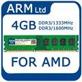 4 gb ddr3 1600 mhz pc3-12800 1333/1600 mhz 2 gb/4 gb de memória ram para amd 240pin 1.5 v memoria para desktop garantia vitalícia
