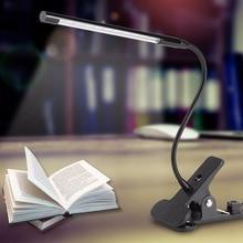 цена на luminaria de mesa USB Rechargeable Table Lamp Touch Sensor LED Desk Lamp Flexible Clip On Reading Book Light lampe de bureau