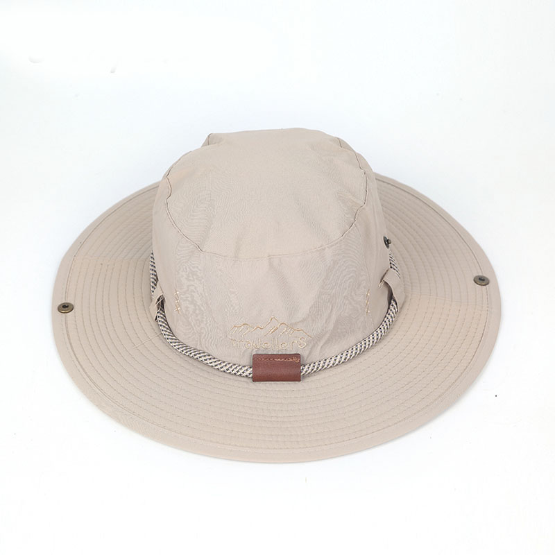 0a9cfb33009 Fishing hat for Woman Man Weathered Cotton Outback Hat With Chin Cord  Adjustable hats Women Men Cowboy hats ZZ4072-in Bucket Hats from Men s  Clothing ...
