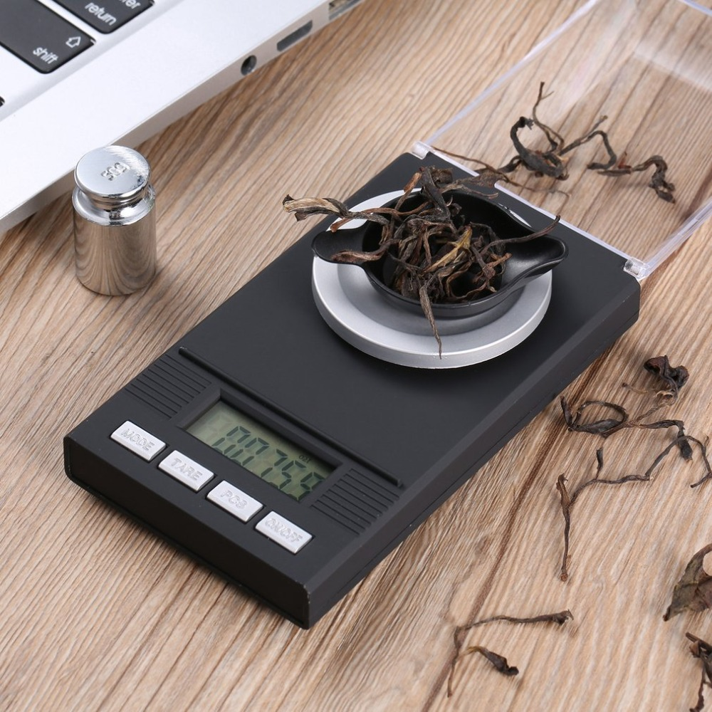 цена на Digital Mini Scale with LCD Backlit Screen 100g/0.001g High-precision Professional Portable Pocket Size Jewelry Scale