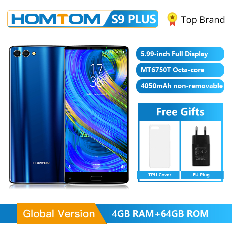 HOMTOM S9 Plus 18 9 HD 5 99 Tri bezelless Full Display Cell phone MT6750T Octa
