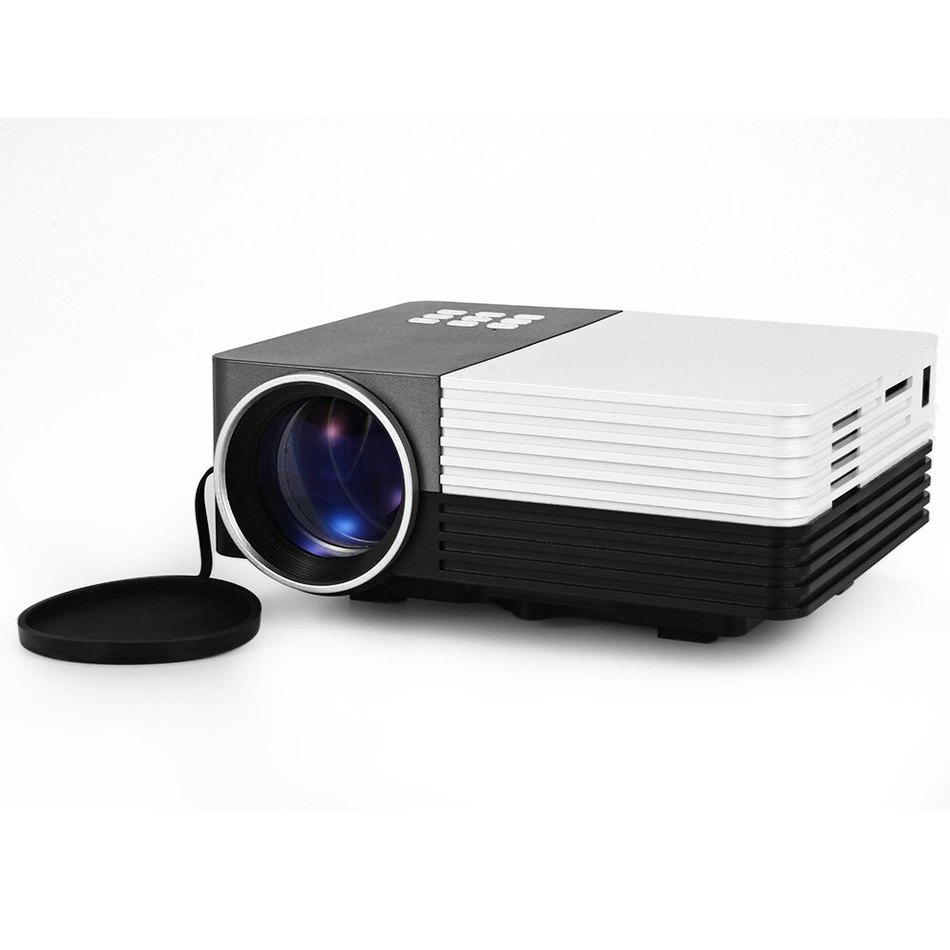 GM50 Multifunction Home Theater Super Bright Light LCD Projector 80 LM 480 x 320 Pixels With Keystone Correction for PC Laptop