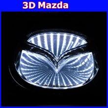 2016 new 3d logo light mazda emblem light for MAZDA6 MAZDA2 MAZDA3 MAZDA-CX7 Car Sticker badge lamp free shipping