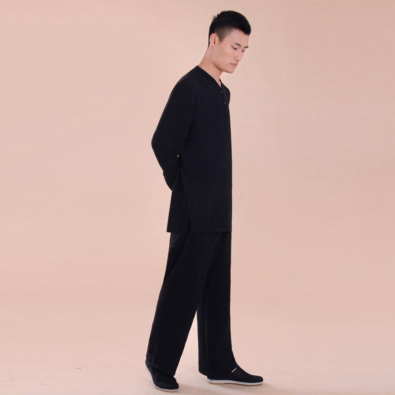 Unisex High-end Linen Tai Chi Uniforms Martial Arts Suits Kung Fu Wudang Taiji Clothing Sets Kampfkunstsets