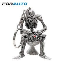 Автомобильные Брелоки для ключей, брелок для туалетных черепов, классный кошелек, сумка, брелок для ключей, резиновый мини-брелок для автомобиля, аксессуары для интерьера