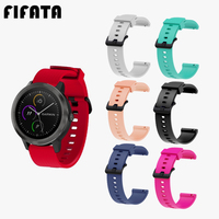 FIFATA  20MM Colorful Silicone Strap For Garmin Vivoactive3 HR Replacement Accessories Sport Watch Band For Vivomove HR/Iomove