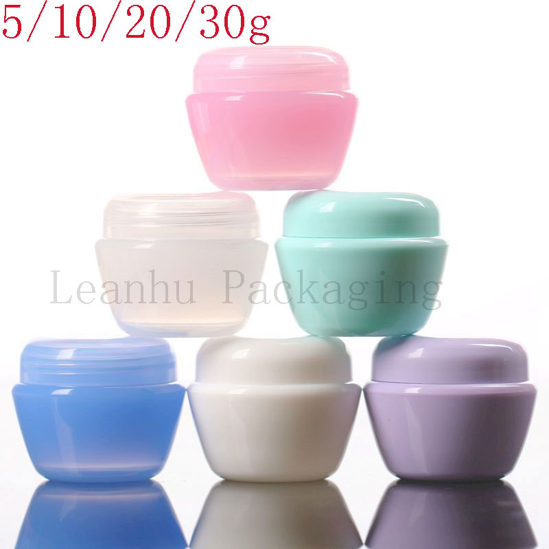 Plastic Mushroom Cream jar,Sample Containers For Cosmetics,50PC Portable Travel Personal Care Empty Packing Container,Wholesale