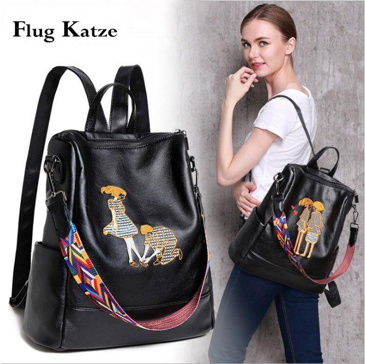 Femmes véritable sac à dos en cuir véritable sac à cordon sac Serpentine cartable sacs école voyage quotidien décontracté Vintage rétro sac à dos