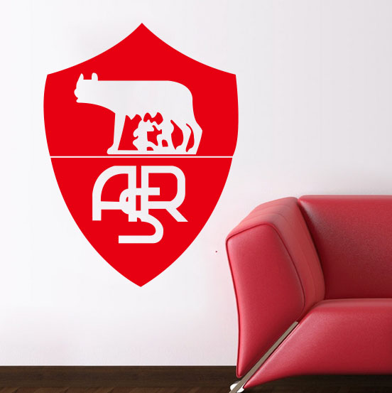 Wall Art Home Decoration Removable Rome City Football Europe League Team  Logo Wall Stickers Living Room
