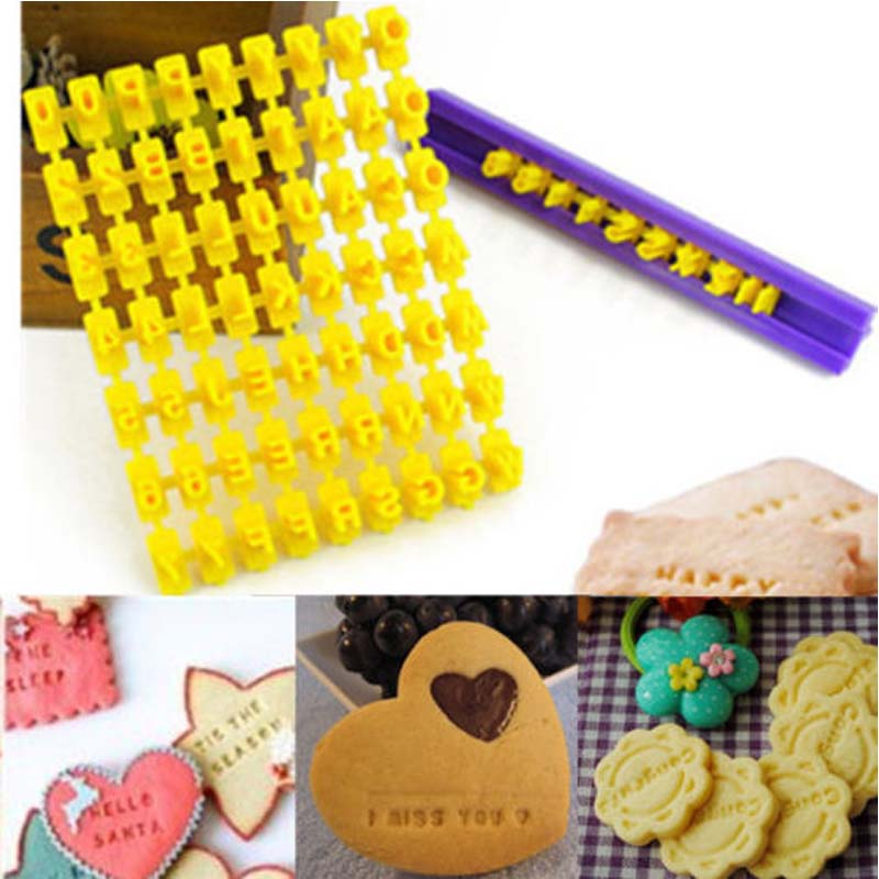 2016 Useful Number Alphabet <font><b>Letter</b></font> <font><b>Cake</b></font> Mould Biscuit Cookie Cutter Press Stamp Embosser Cookie <font><b>Decor</b></font> image