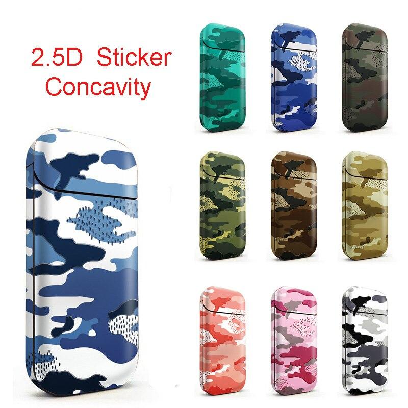 Camo Design 3M Printing PVC Material Skin For IQOS 2.4 Plus Sticker Case Sleeve Antidust Decorative 2.5D Film