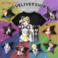 Anime Love Live! School idol project Staff T-shirt Black Polyester T Shirt Summer Active Tshirt Animation Men Women Clothing