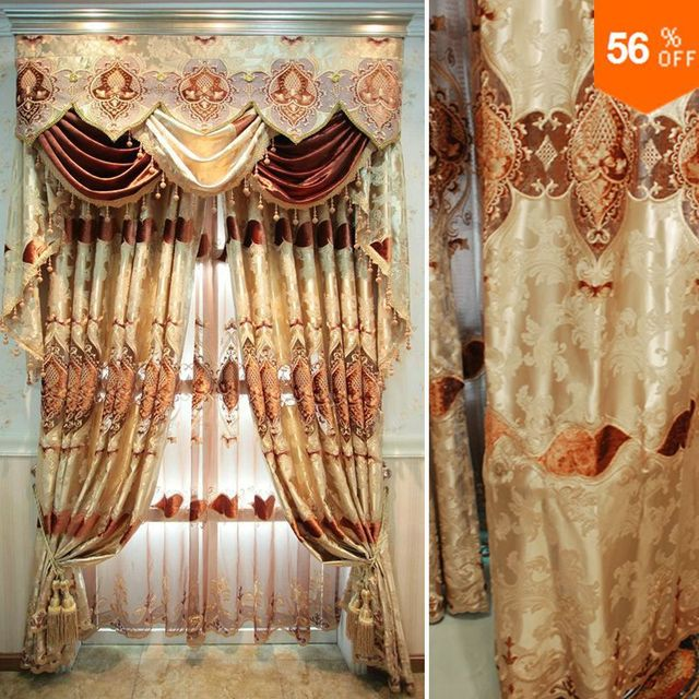 curtains for windows Quality new chinese style embroidered curtain finished products fashion shade curtain wedding decoration