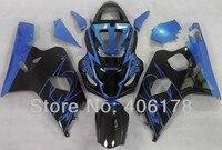 Лидер продаж, k4 aftermarket gsxr части для Suzuki GSX R600 750 GSXR 2004 2005 синий и черный спортивный Обтекатели (Термопластавтоматы)