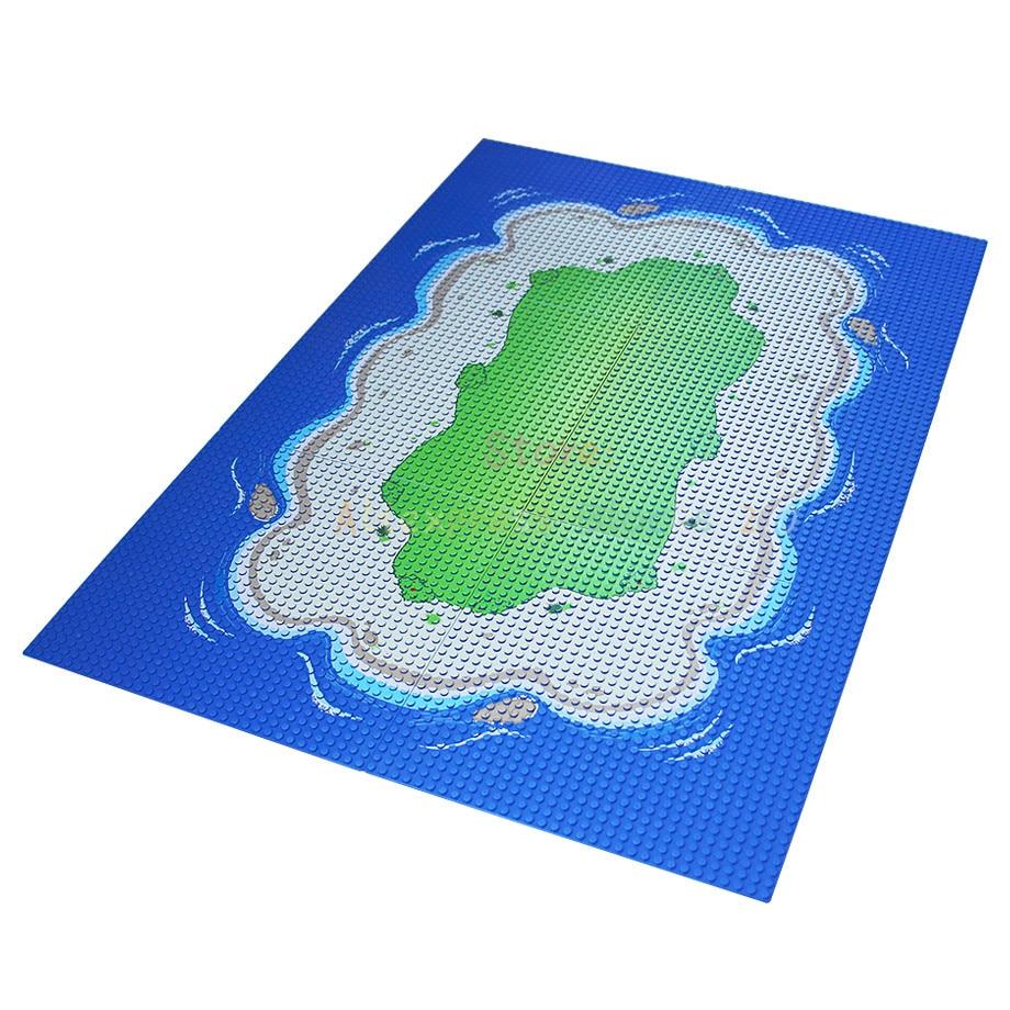 25,6 cm Strand Basis Gerade Kreuz Platte Gras Oasis 32x32 dots Piraten Meer Baustein Stellt Kinder Spielzeug
