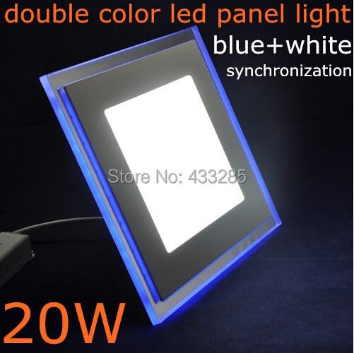 2pcs / lot, DHL / EMS, formă pătrată 20W AC85-265V dublu culoare - Iluminat cu LED