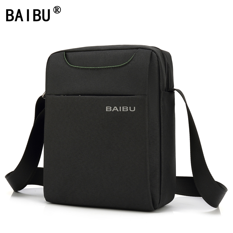 BAIBU Waterproof Wear-Resisting Oxford Men Crossbody Shoulder Bag High Quality Business Leisure Brand Man Bag Man Messenger Bags 150pcs smokeless moxa stick acupuncture massage moxibustion moxa wormwood artemisia 7mm 120mm high density heat free shipping