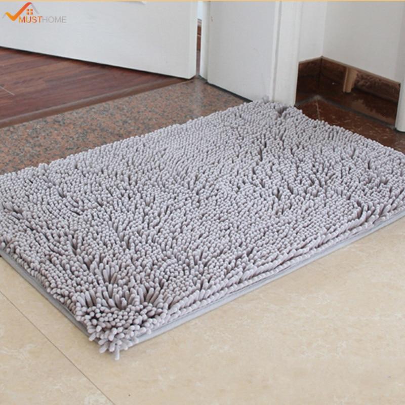 White Horse Absorbent Bathroom Shower Rug Warm Flannel Carpet Door Mat 40*60cm