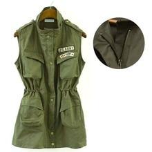 Factory Price! Casual Lady Military Drawstring Jackets Multi-pocket Waist Elastic Jacket