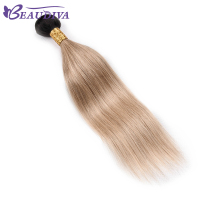 BEAU DIVA TB/LIGHT BROWN Brazilian Straight Hair Weave Bundles Human Hair Bundles Only one piece Hair Weaving Remy Hair