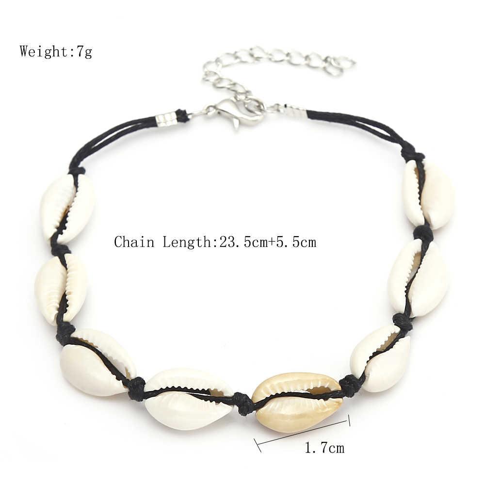 XIYANIKE SeaShell ножной браслет для женщин бижутерия для ног Летний Пляжный браслет со ступнями ног лодыжки на повязка на ноги богемные ювелирные изделия аксессуары