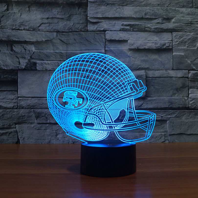 NFL Team San Francisco 49ers 3D Lamp Football Helmet