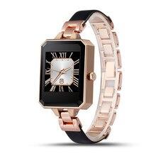 FineFun Smart Uhr LEM2 Frauen Brechen New Smartwatch Bluetooth Pulsmesser MTK2502C APK von IOS Android Handys