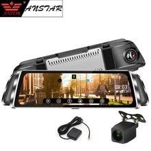 """Anstar Smart Dello Specchio di Rearview Dell'automobile DVR 10 """"Schermo di Tocco 1080 P Cancelliere Dual Lens Dash Cam GPS Traccia Video registratore della Macchina Fotografica Auto"""