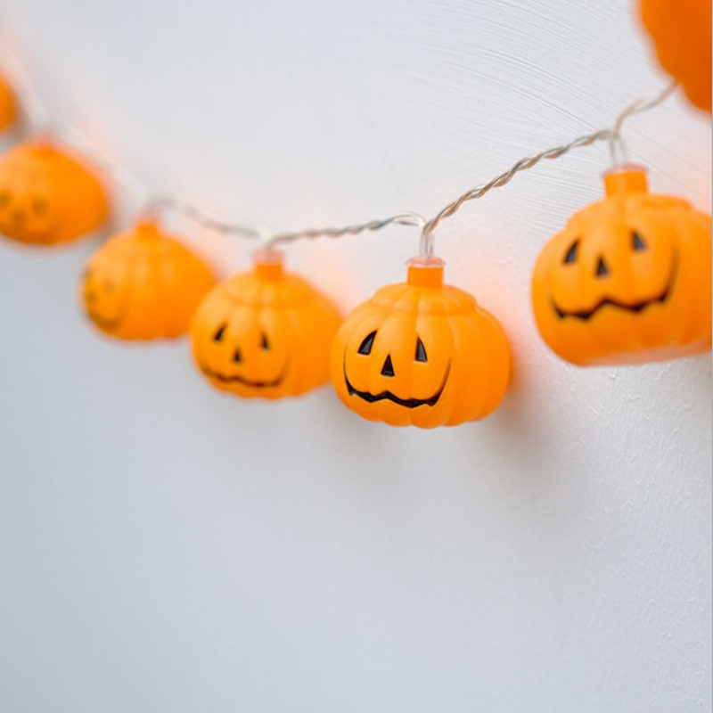 Battery Operation And Electric Diy Decoration Pumpkin Colorful Christmas Wedding Halloween Party String Led Lights