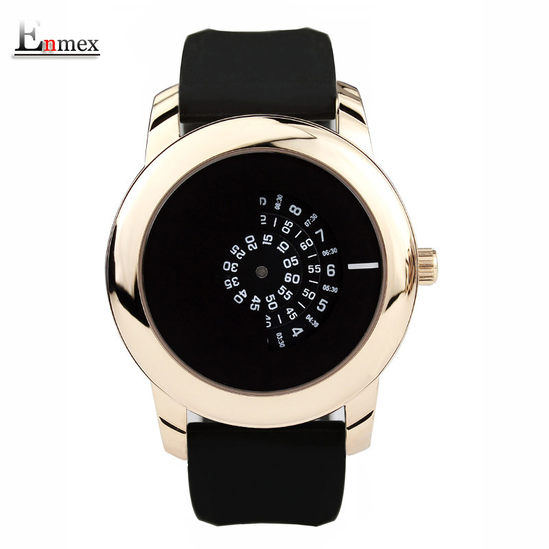 2017 gift Enmex creative style neutral wristwatch black camera concept cool design silicone band brief casual