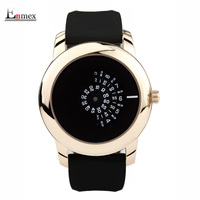 2016 Gift Enmex Creative Style Men Wristwatch Black Camera Concept Cool Design Silicone Band Brief Casual