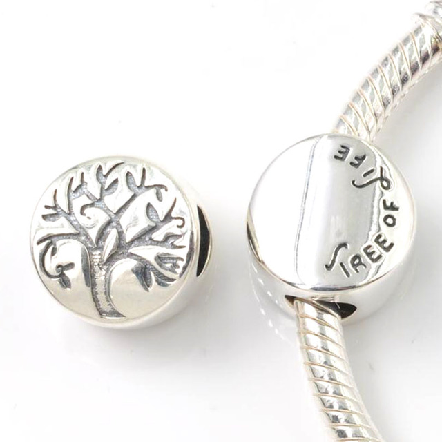 e600d0d80 Fits Pandora Charms Bracelet Authentic 925 Sterling Silver Tree of Life  Charm Beads DIY Jewelry