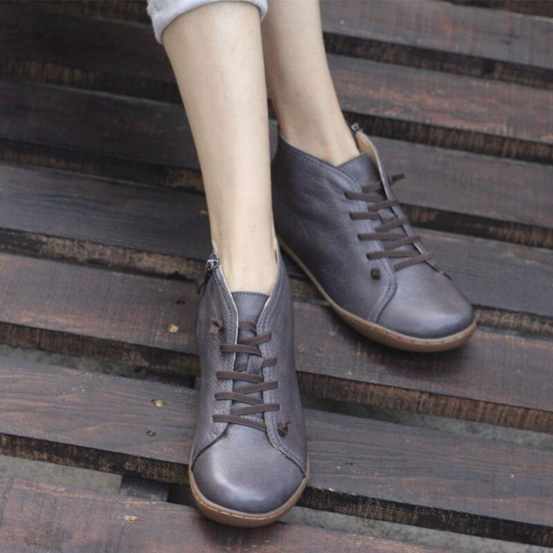 46 Zapatos dark Blue Calzado Pie Mujer Cremallera Genuino Hecho 35 Dedo k03 Para Del Black Mujeres Tobillo Botas De Las Mano Cuero Cuadrado A dgwqnEB