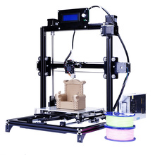 Большой размер металлический каркас Prusa i3 3D принтер с автоматической системой выравнивания Printer-3d и двух рулонов нити бесплатно
