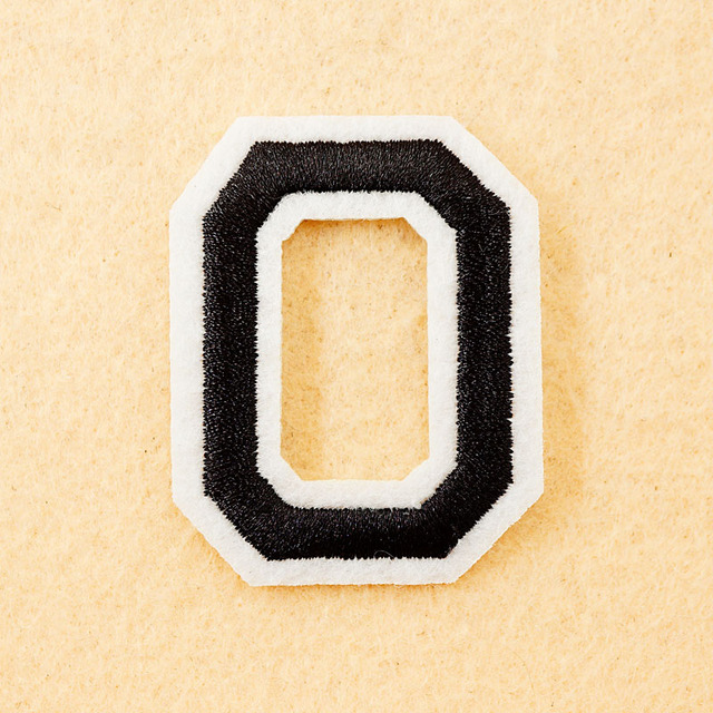 letter o size455cm diy cloth patch badge embroidered cute badges