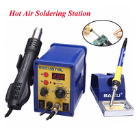 2 in 1 Hot Air Soldering Station BAKU 878L 110V/220V LED Digital Display Electric Hot Air Welding Station With English Manual