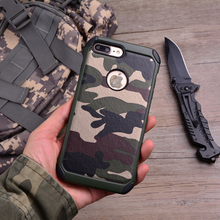J Camouflage Case for iphone X 7 6 6s 5 5s Se 4 4s Military Army Silicon Cover Fundas Capinhas Coque for iphone 7 8 Plus Bumper(China)