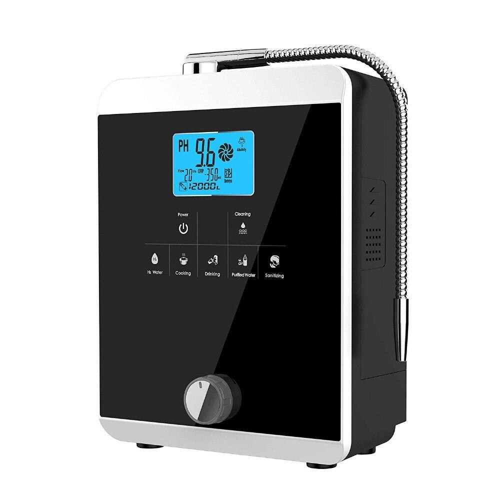 Di Qualità del Hight Macchina Ionizzatore Acqua Produce pH 3-11.0 Acido Alcalino Fino a-800mV ORP Auto-Pulizia A CRISTALLI LIQUIDI di Tocco di Acqua Filtro