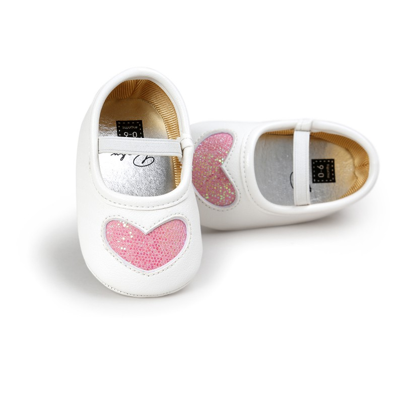 2019 Autumn Spring Fashion Shoes New Lovely PU Soft Bottom Baby Girl Princess Shoes 0-18M